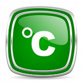celsius glossy computer icon on white background