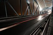 Night traffic on a beautiful bridge