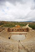 Amphitheatre in the Roman city Jerash in Jordan