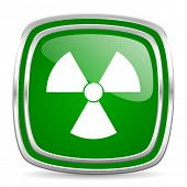 radiation glossy computer icon on white background