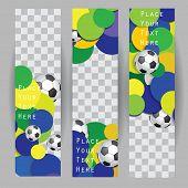 Vector banner template. Brasil 2014. Vector eps 10.