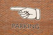 Parking Sign With Hand