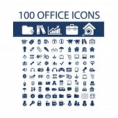 100 documents, folder, office, book, case, search, internet icons set, vector
