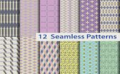 12 Model Seamless Patterns