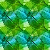 Macro green leaves seamless background
