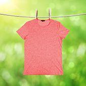 Washing Red T-shirt