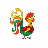 Colorful Rooster Cartoon