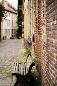 Bench in a lane in Ghent