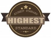 Highest Standard Stamp