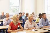 picture of tutor  - Mixed group of students in class - JPG