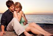 Romantische verliefde paar
