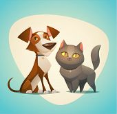 picture of cartoon character  - Cat and Dog characters - JPG