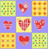 Love and heart. Abstract background.