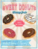 Sweets retro poster