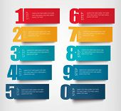 Info graphics banners with numbers and litters..Retro design template. Vector illustration