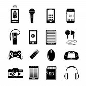 Gadget icons black