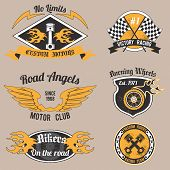 Motorcycle design badges