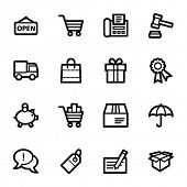 Shopping web icons