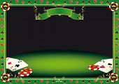 Aces on the table. A background with gambling elements (cards and Gambling Chips) on a table. It's i
