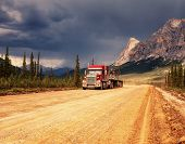 Dalton highway on Alaska