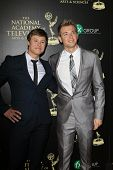 BEVERLY HILLS - JUN 22: Guy Wilson, Chad Duell at The 41st Annual Daytime Emmy Awards Press Room at