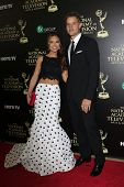BEVERLY HILLS - JUN 22: Chrishell Stause, Justin Hartley at The 41st Annual Daytime Emmy Awards Pres