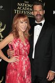 BEVERLY HILLS - JUN 22: Kathy Griffin, Tuc Watkins at The 41st Annual Daytime Emmy Awards Press Room