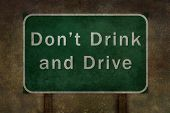 Don't Drink and Drive highway road sign