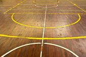 Wooden Floor Of Sports