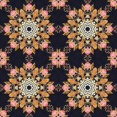 picture of marquetry  - Abstract seamless artistic pattern - JPG