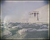 Athens Greece, erechtheion temple and Caryatids with instagram filter