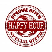 Happy Hour Special Offer Stamp