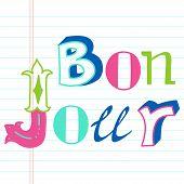Bonjour lettering