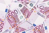 Five hundreds euro banknotes