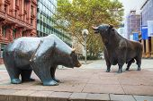 Bear And Bull Sculpture In Frankfurt Am Maine