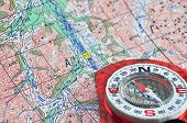 The Compass On Map.