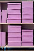 pink shoe boxes