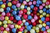 stock photo of eatables  - Colorful sweet sugar pearls - JPG
