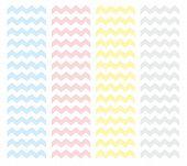 Zig zag chevron vector pastel pattern set