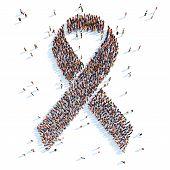 Breast Cancer Awareness Ribbon.
