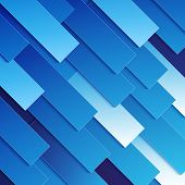 Abstract blue paper rectangle shapes background
