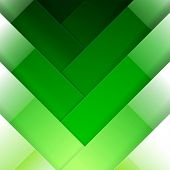Abstract green crossing rectangle shapes background