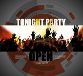 Party poster background, vector