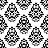 Damask style bold arabesque seamless pattern