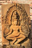 picture of hindu-god  - Stone carving for Narayana the hindu god statue - JPG