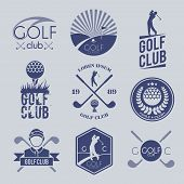 Golf club label
