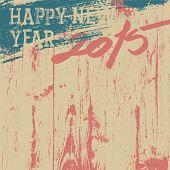 2015 New Year background retro styled