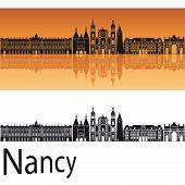 Nancy skyline in orange background