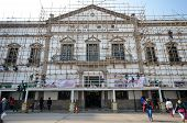 Workers Repair Civic And Municipal Affairs Bureaumore In Macau