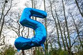 blue helium balloon 5 today five